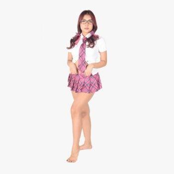 Hot Pink School Girl Uniform