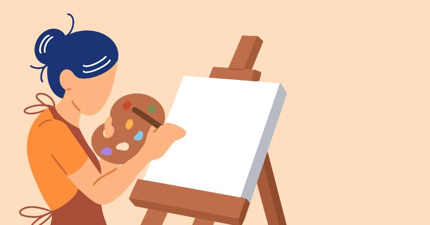 De-stress through art
