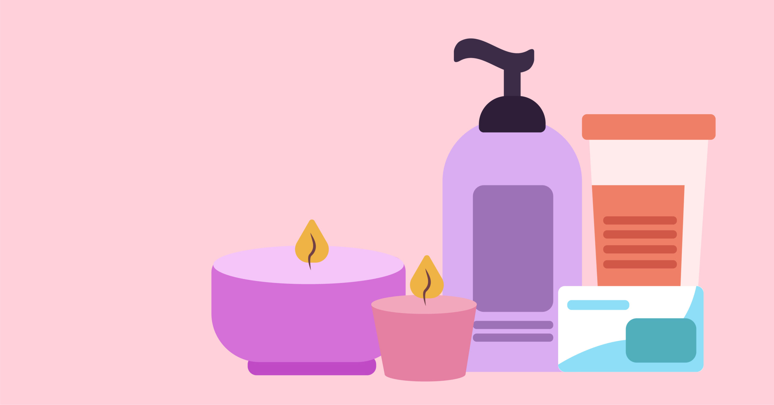 Tease the senses with scented candles, soaps, and lotions