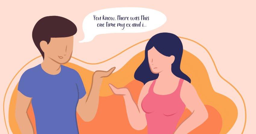 talking about their ex  - rebound relationship