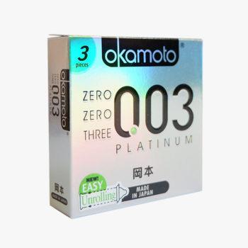 Okamoto 0.03 Platinum Condoms 3s