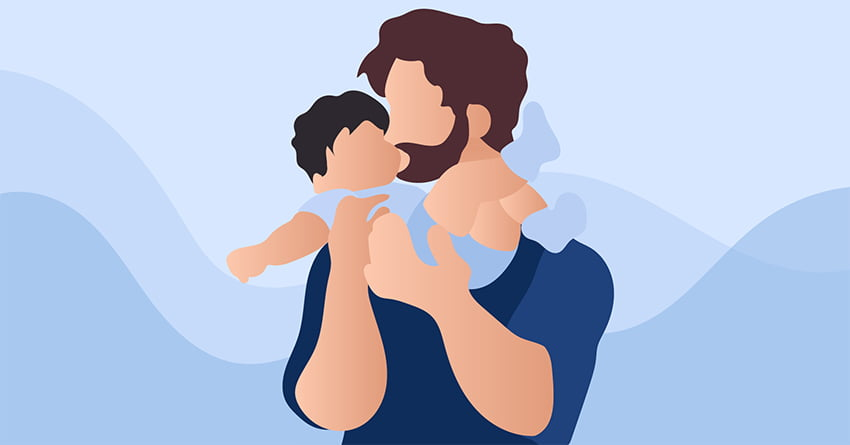 Connect with your infant through touch.