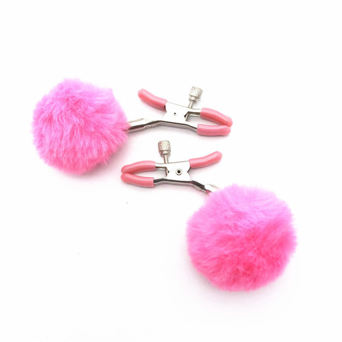 Poppy Adjustable Nipple Clamps with Fur