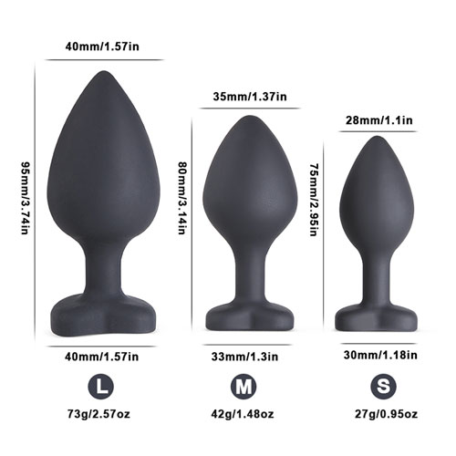 Queen Crystal Anal Plug Set