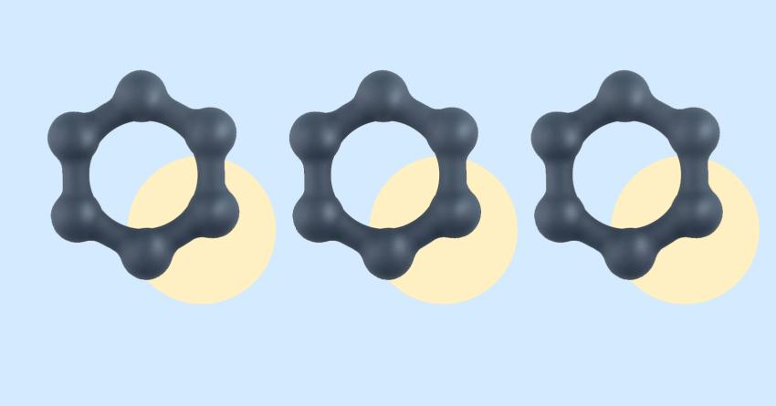Boners Hexagon Cock Ring With Steel Balls