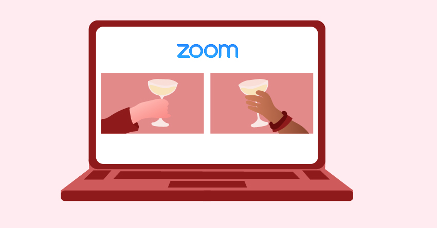 Have a virtual date or party on zoom.