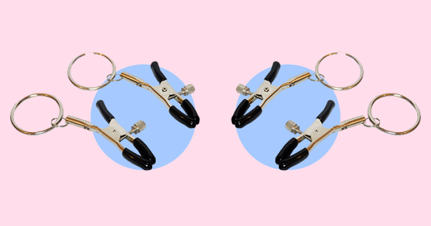Roxie Adjustable Nipple Clamps with Metal Ring