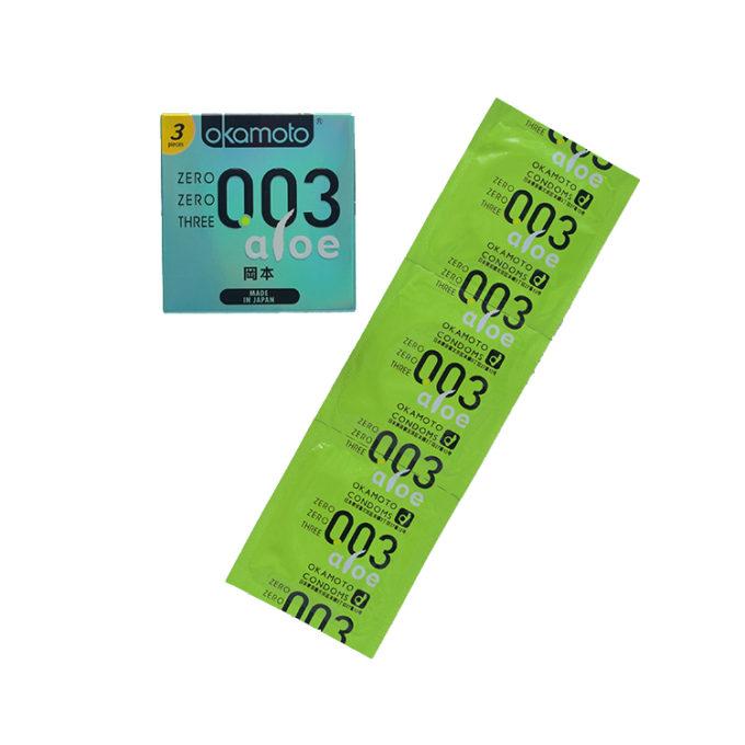 Okamoto 003 Aloe Condoms 3s