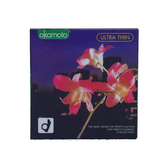 Okamoto Orchid Ultra Thin Condoms 3s