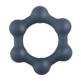 Hexagon Cock Ring With Steel Balls