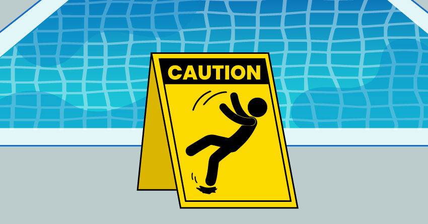 Unexpected mishaps can occur, such as slipping.