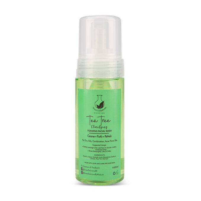 Sweet Solutions Tea Tree Clarifying Foam Facial Wash